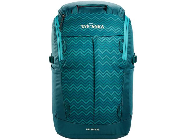 Tatonka City Pack 22 Backpack teal green zig zag